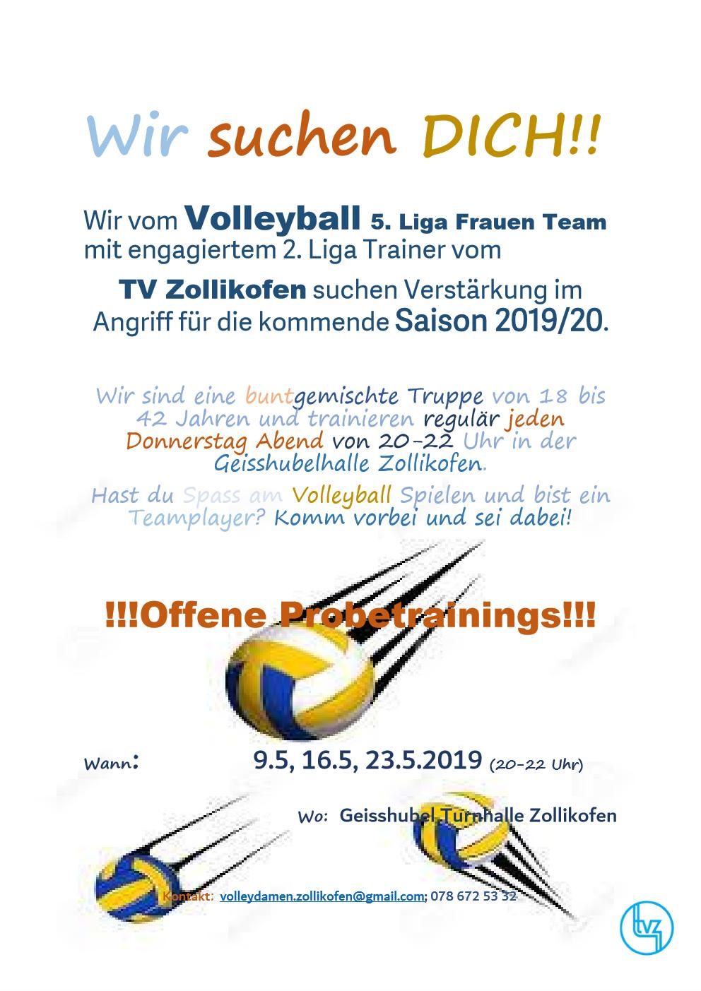 Flyer Volley Damen